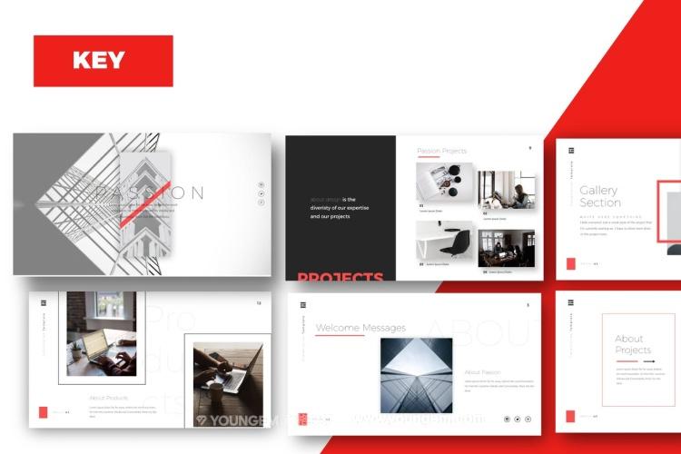 时尚高端项目展示商业PPT模板演示文稿key图片