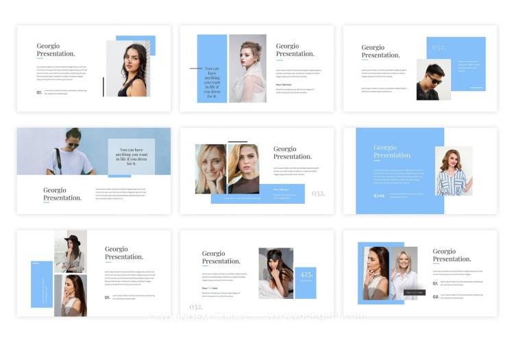 项目介绍营销推广商业PPT模板演示文稿(key格式)模板