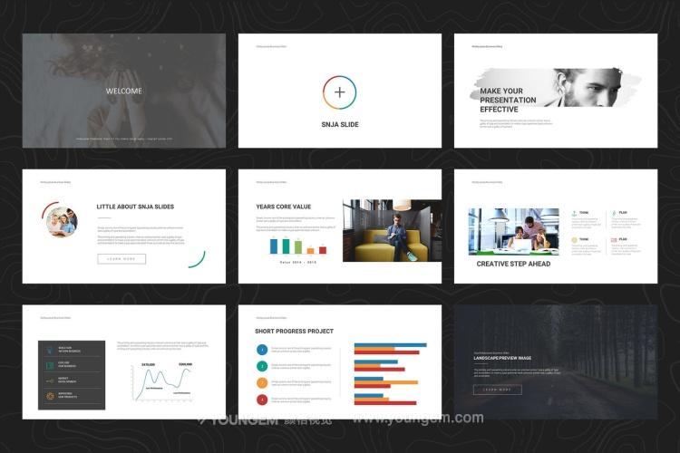 公司项目营销推广商业PPT模板演示文稿素材