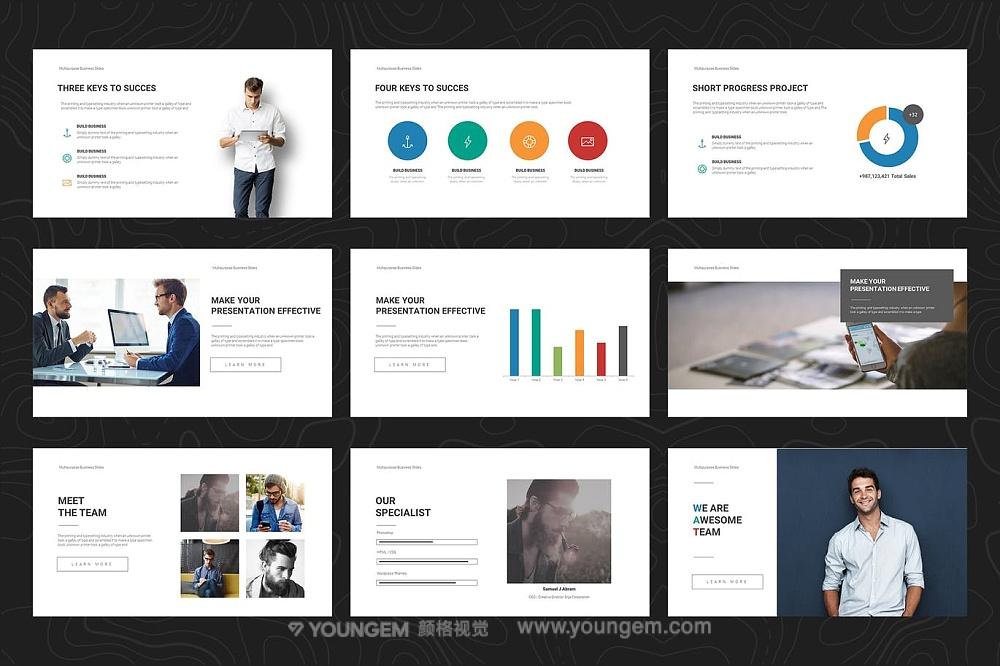 公司项目营销推广商业PPT模板演示文稿模板