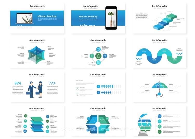 项目展示信息图表商务PPT模板演示文稿模板