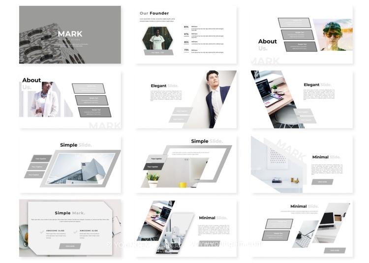 商业合作项目信息图表PPT演示文稿模板key素材