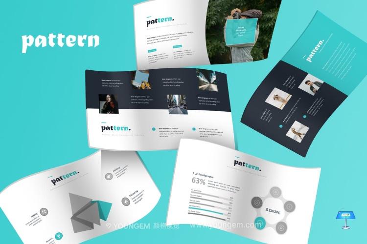 项目介绍信息图表PPT模板演示文稿(key格式)图片