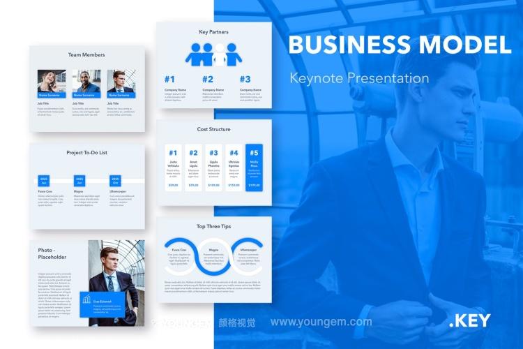 公司项目展示商业PPT模板演示文稿(key格式)图片