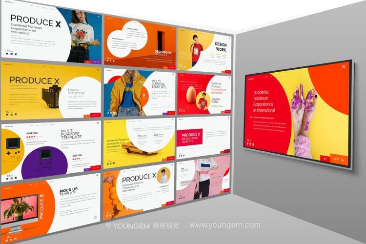 电子商务商品展示PPT模板演示文稿(key格式)素材