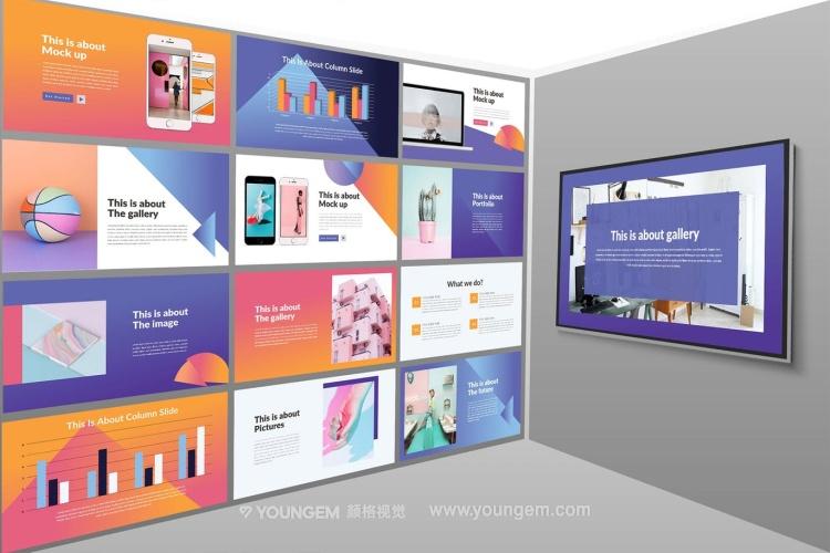 商品营销展示PPT模板演示文稿(key格式)素材