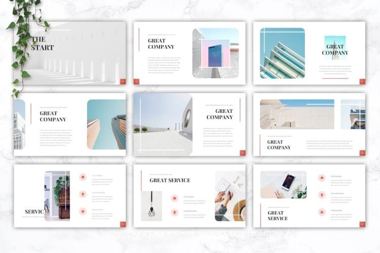 公司商业计划展示PPT模板演示文稿素材