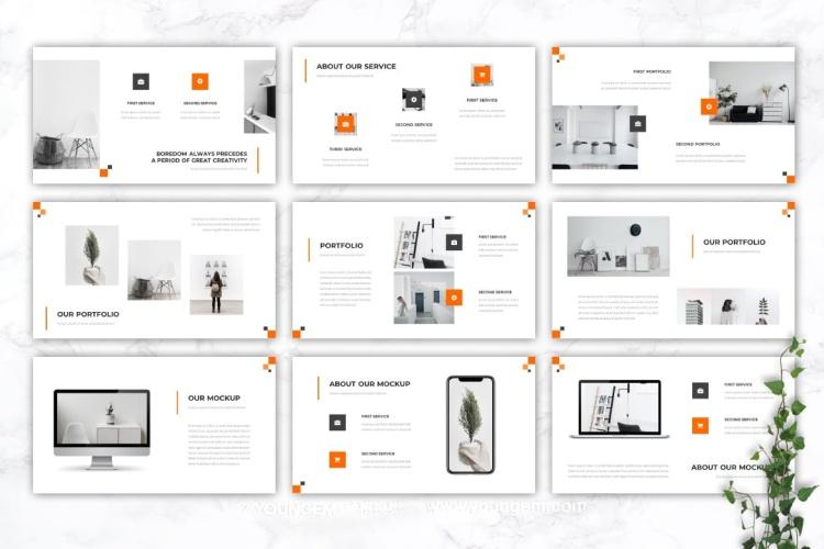 多用途产品介绍商业PPT模板演示文稿(key格式)模板