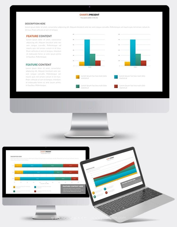 多功能数据分析信息图表PPT模板演示文稿模板