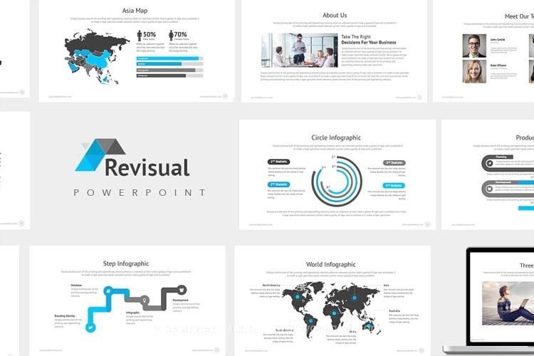 项目数据信息图表商务提案PPT模板演示文稿图片