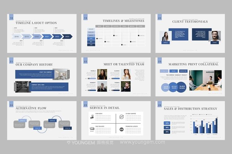 60张多用途信息图表商务PPT模板演示文稿模板