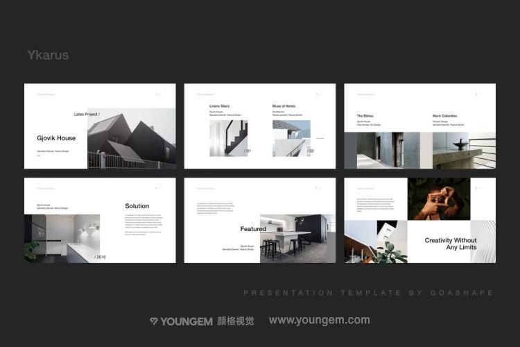 建筑设计商业PPT模板演示文稿(key格式)素材