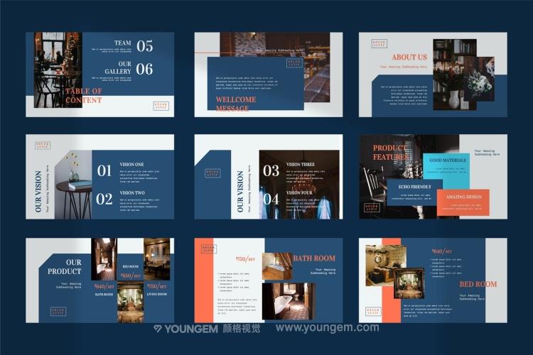 家具室内营销展示PPT模板演示文稿模板