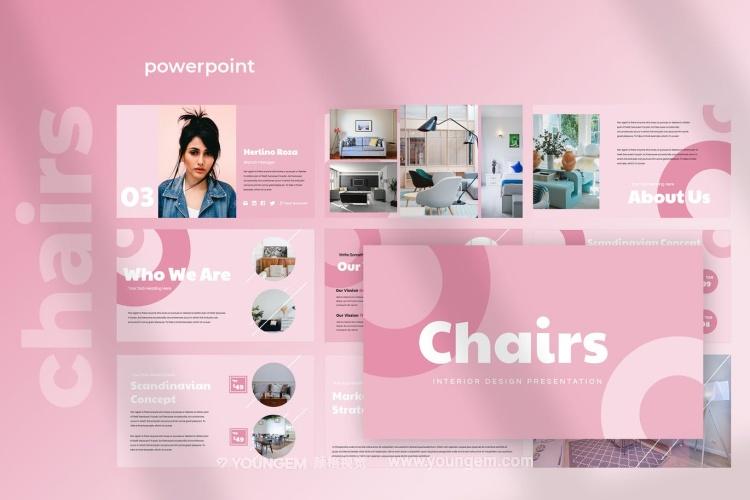 室内家具展示提案PPT模板演示文稿图片