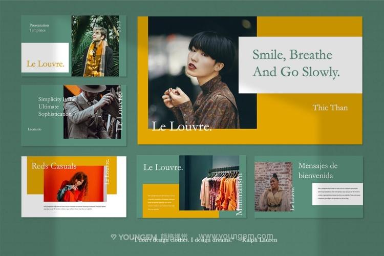 时装主题商业提案PPT模板演示文稿素材