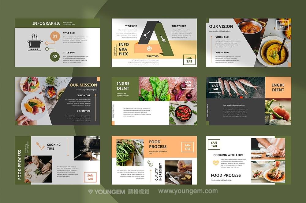 餐厅美食主题PPT模板演示文稿key模板