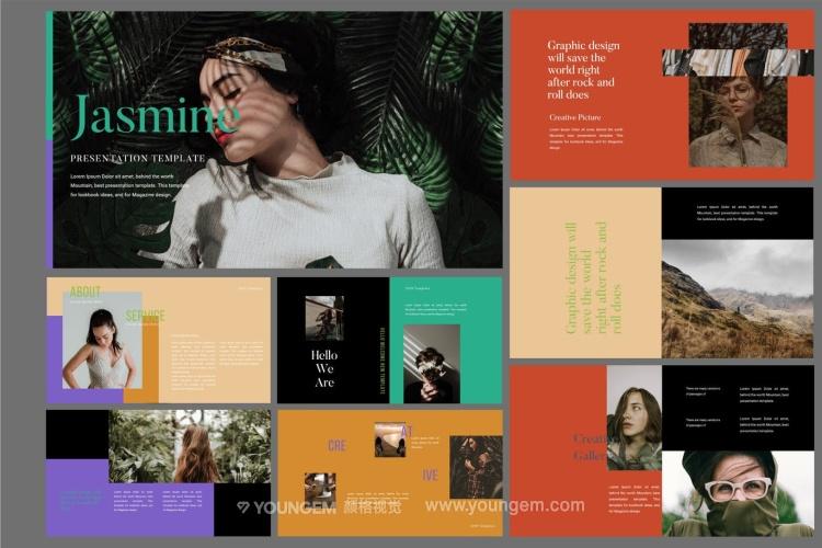 时装展示商业PPT模板演示文稿图片