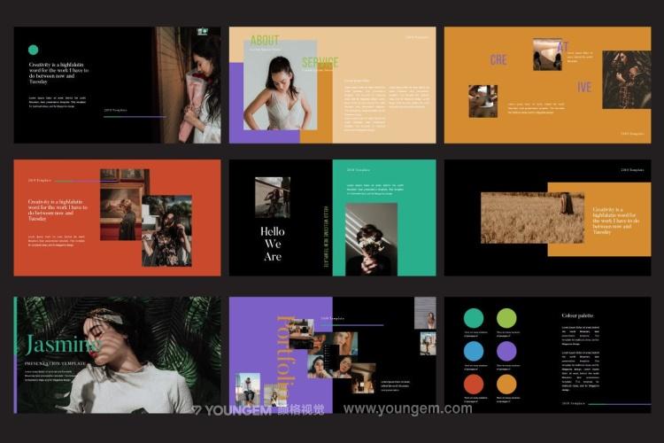 时装展示商业PPT模板演示文稿素材