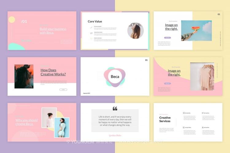 多用途公司产品介绍商业PPT模板演示文稿(key格式)图片