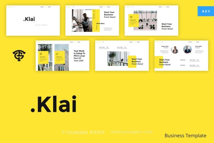 黄色公司商业投资项目展示商业PPT模板演示文稿(key格式)图片