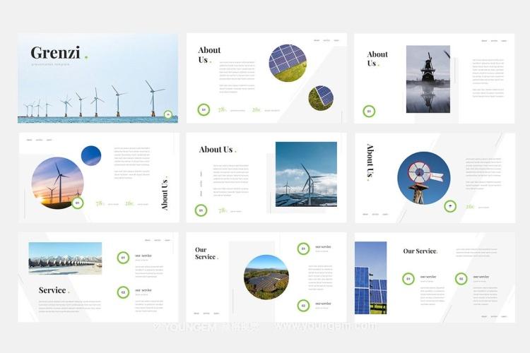 再生能源主题PPT模板演示文稿(key格式)素材