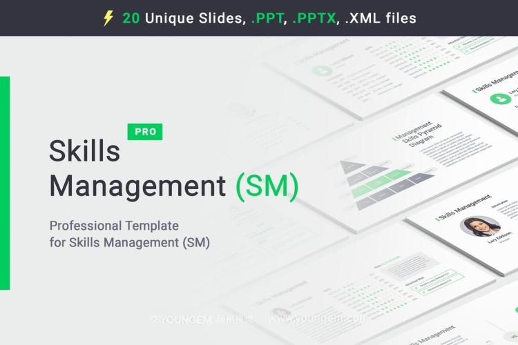 5种配色多功能数据图表PPT模板演示文稿图片