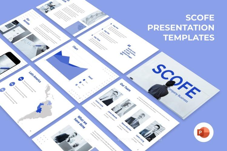 商业投资合作商务PPT模板演示文稿图片
