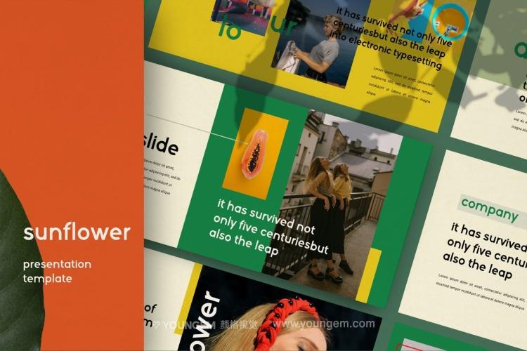 时尚生活旅行主题PPT模板演示文稿图片