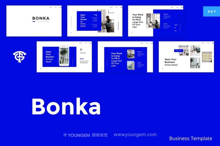项目展示说明商业PPT模板演示文稿(key格式)图片