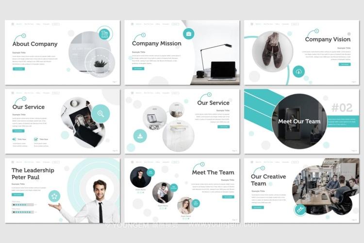 公司产品展示说明商业PPT模板演示文稿模板