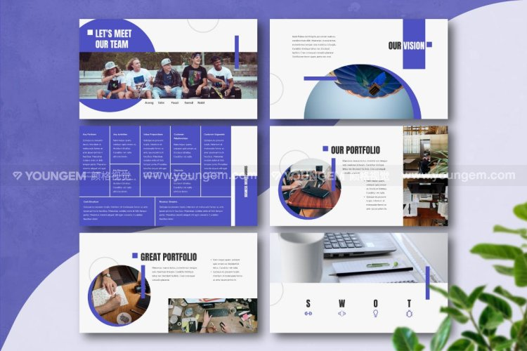 公司业务图表商业PPT模板演示文稿模板