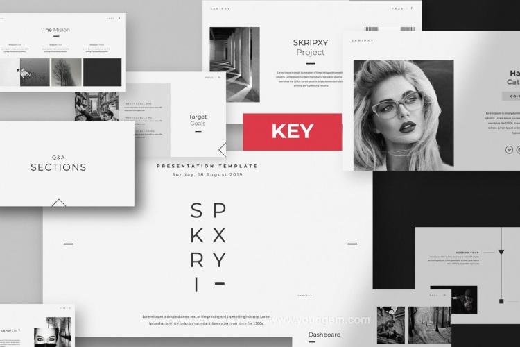 多用途品牌广告商业PPT模板演示文稿(key格式)图片