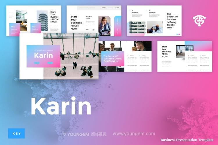 电子商务企业PPT模板演示文稿(key格式)图片