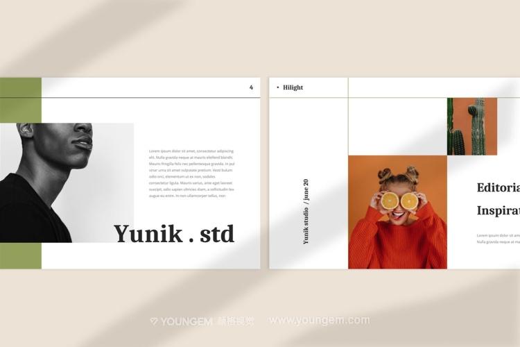 企业商业项目营销推广ppt模板版式设计_现代时尚作品集演示文稿下载模板