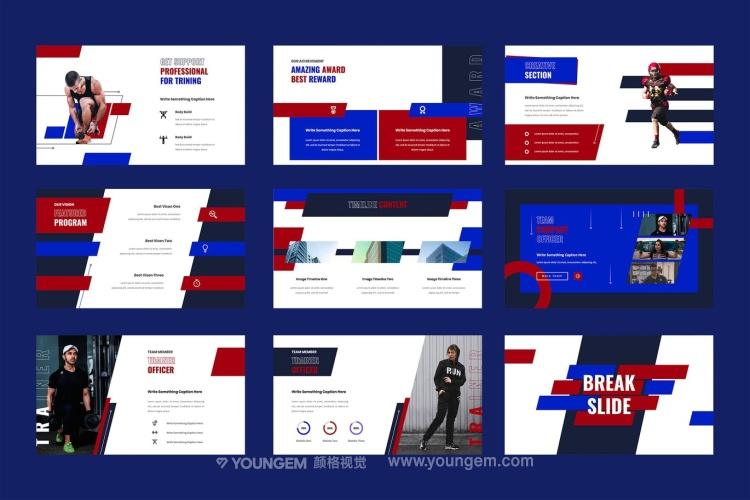 30+高清体育竞技项目主体简报展示介绍商务ppt模板模板