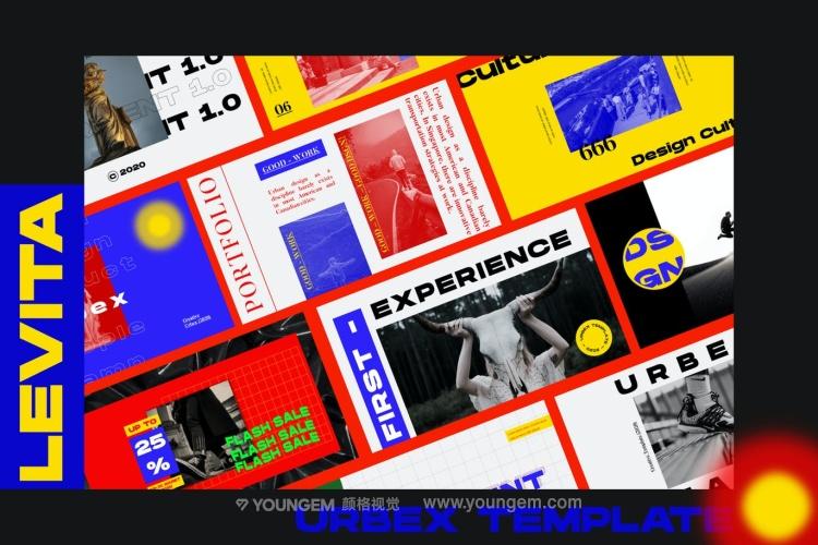 时尚作品集画册营销幻灯片展示ppt模板图片