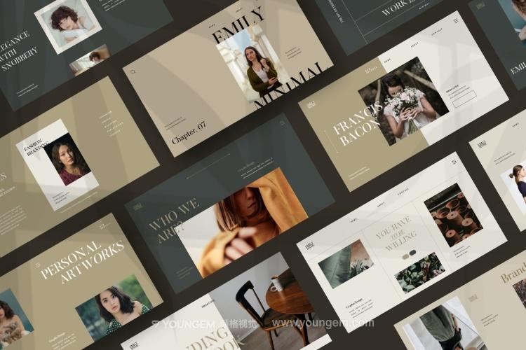 国外时装主题商业营销提案ppt模板下载素材