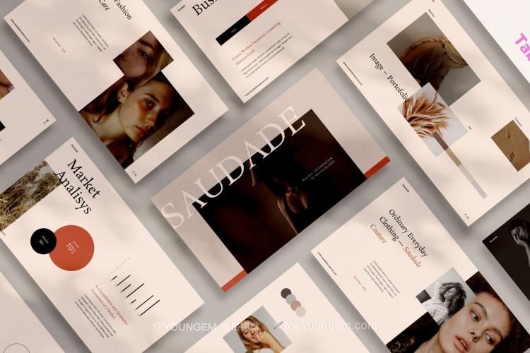 干净创意极简风格项目推广商业提案演示ppt模板图片