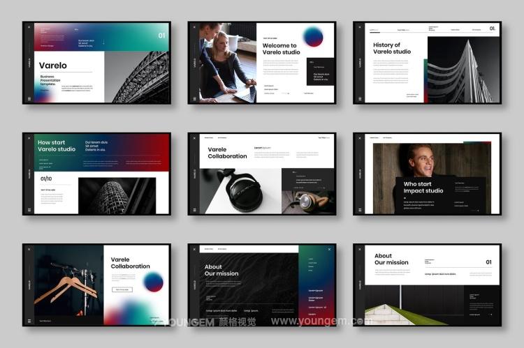 时尚创意代理公司业务宣传推广商业ppt模板模板