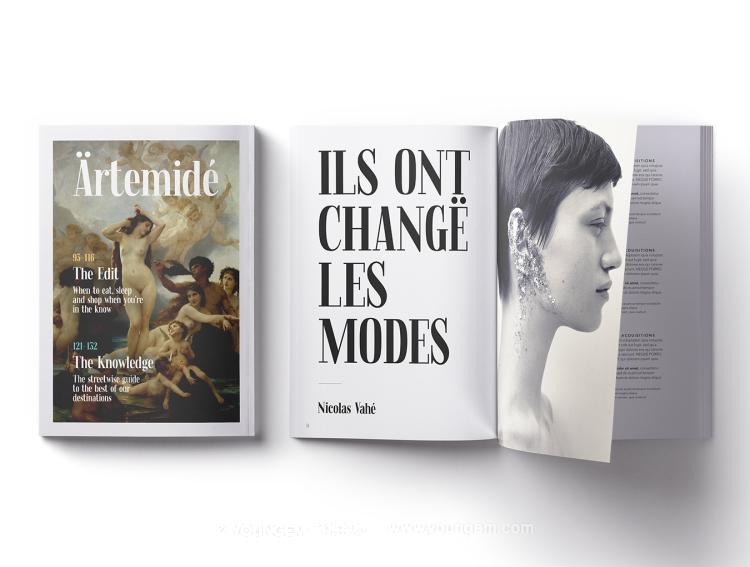 独特的时尚杂志标题衬线英文字体设计模板
