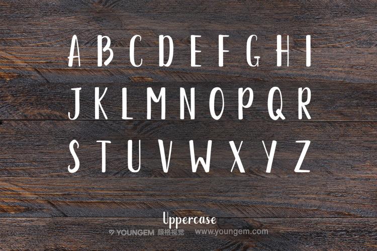柔和的品牌包装手写免费英文字体设计素材