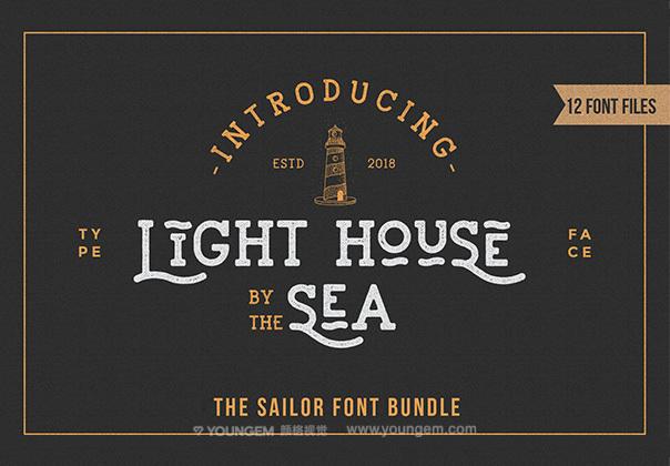 复古风格标题广告设计免费装饰英文字体下载图片