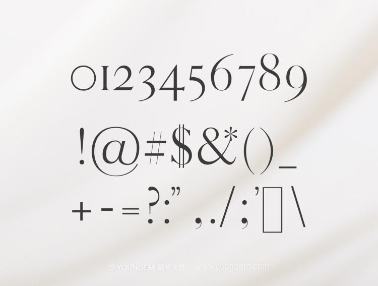 免费标题杂志广告英文字体设计素材