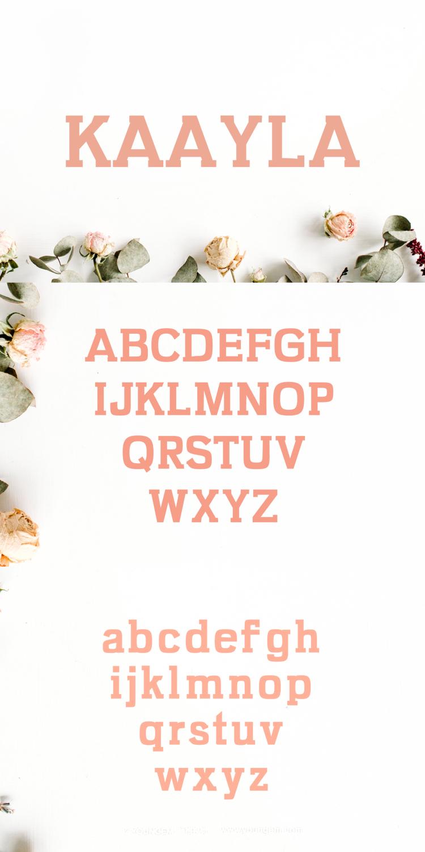 平板可爱的横幅标题衬线英文字体下载图片