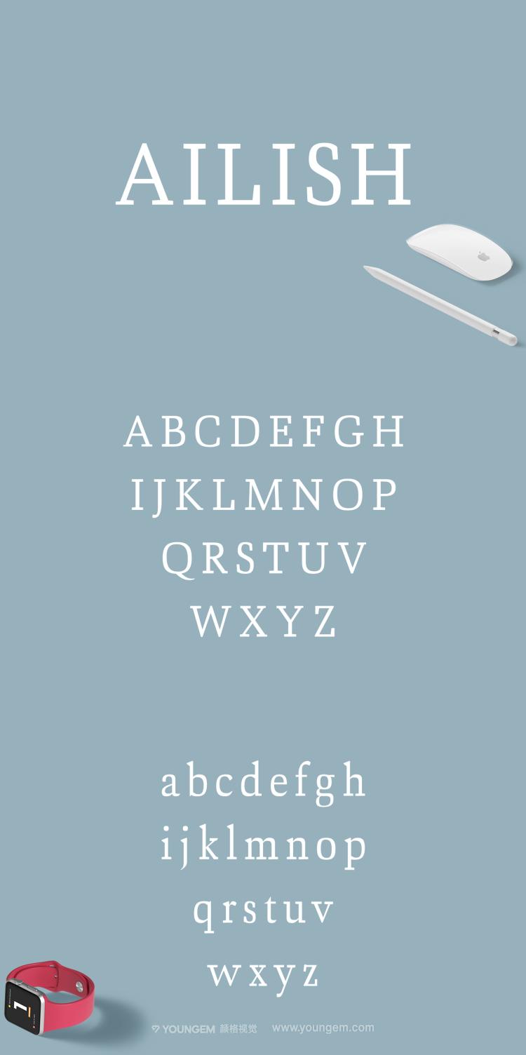 平板可爱的横幅标题衬线英文字体设计图片