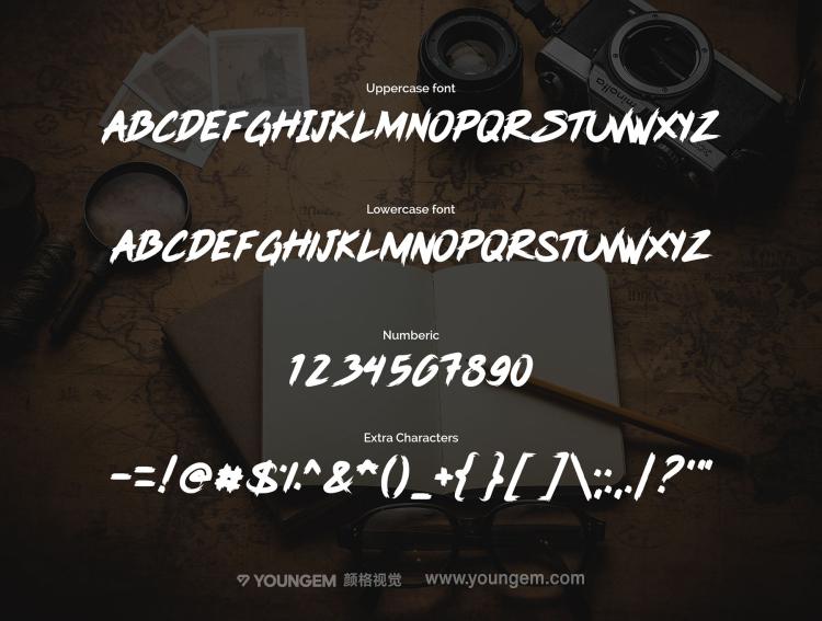 时尚典雅的杂志封面广告标题手写英文字体下载模板