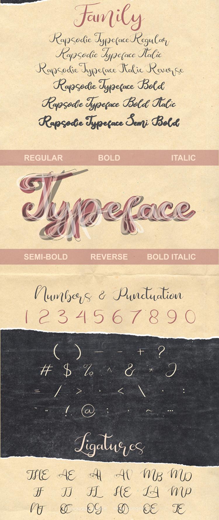 趣味的封面商店广告牌手写英文字体下载模板