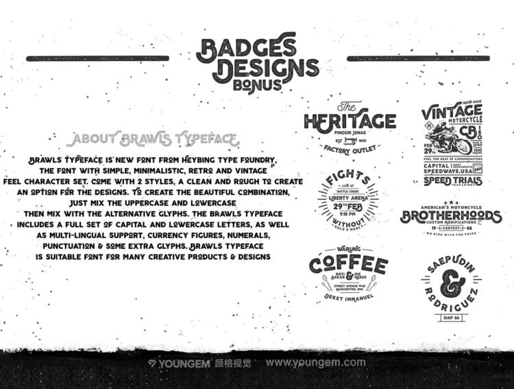 包装海报封面商品logo无衬线英文字体下载素材