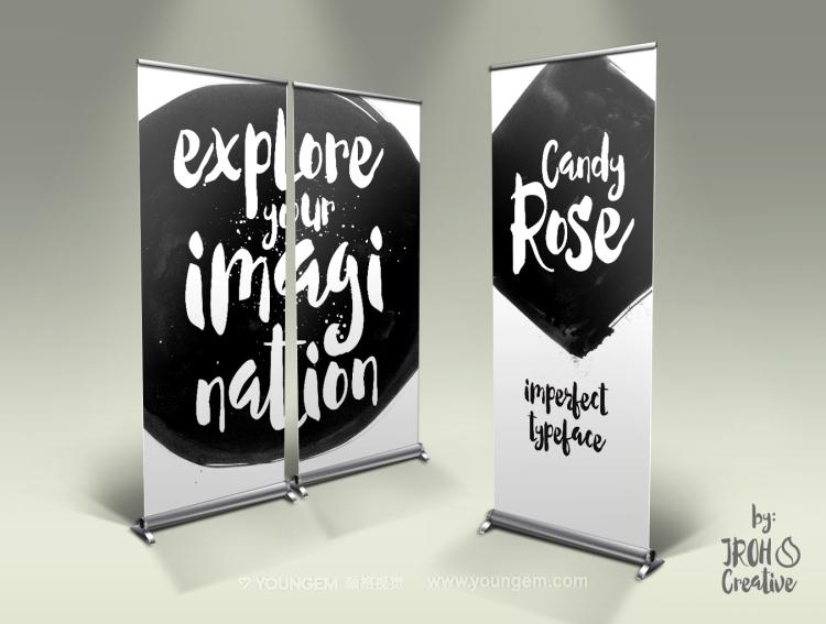 服装商品包装海报封面手写英文字体设计图片