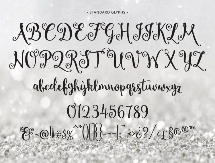 连体海报杂志封面装饰免费英文字体设计图片
